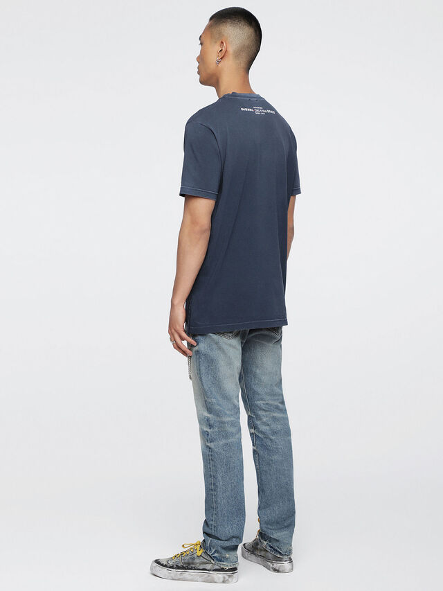 Diesel - T-KEITHS, Blu - T-Shirts - Image 4