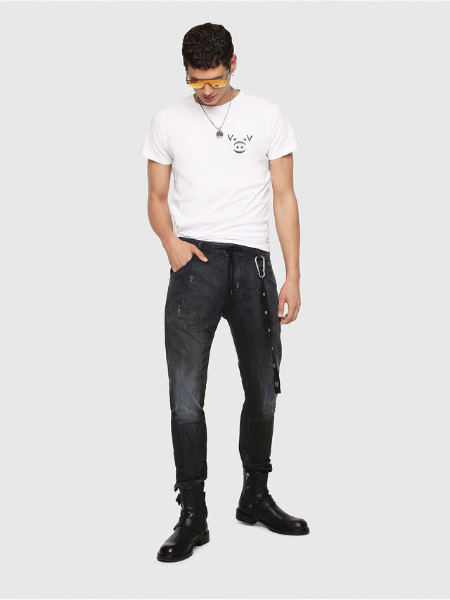 Diesel - Krooley JoggJeans 069IA, Nero Jeans - Jeans - Image 5