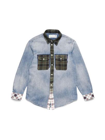 Diesel - D-DEEPCHECK-A, Blu Chiaro - Camicie in Denim - Image 1