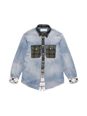 D-DEEPCHECK-A, Blu Chiaro - Camicie in Denim