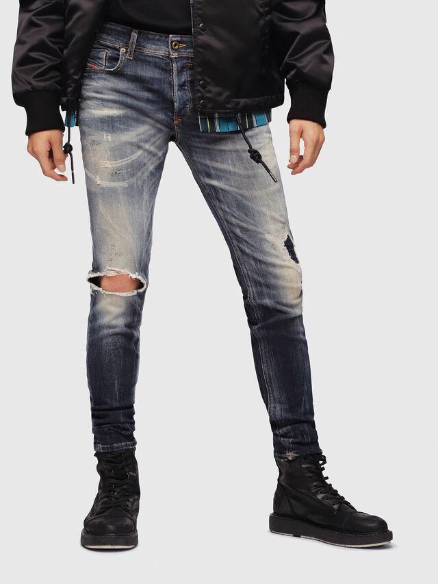 Diesel - Sleenker 069DJ, Blu Scuro - Jeans - Image 1