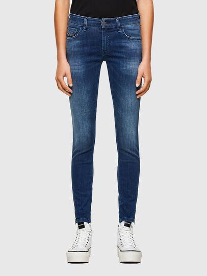 Diesel - Slandy Low 009FE, Blu Scuro - Jeans - Image 1