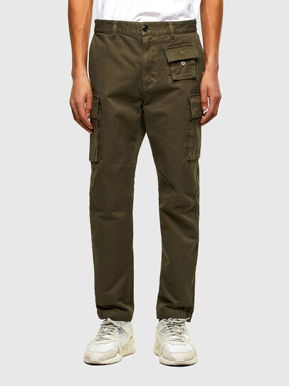 Diesel - P-COR, Verde Militare - Pantaloni - Image 1
