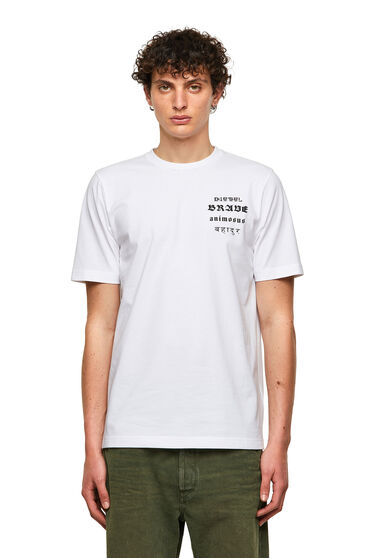 T-shirt Green Label con stampa Brave