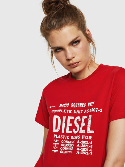 Diesel - T-SILY-ZF, Rosso Fuoco - T-Shirts - Image 3