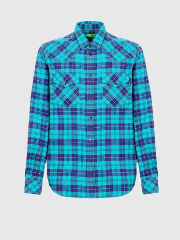 Camicia Green Label stile western in flanella