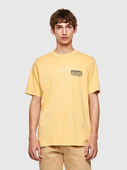 Diesel - T-JUBINDY-B1, Giallo - T-Shirts - Image 1
