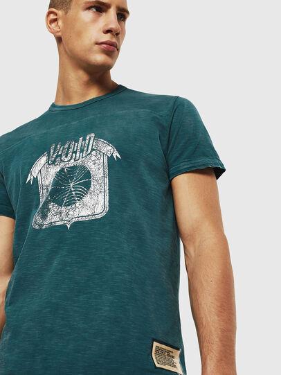 Diesel - T-DIEGO-CUT-AC, Blu Oltremare - T-Shirts - Image 4