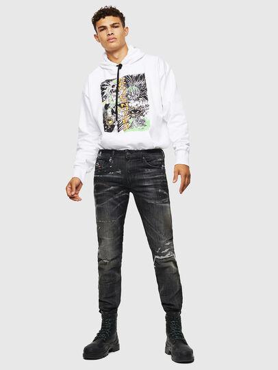 Diesel - Thommer JoggJeans 0098E, Nero/Grigio scuro - Jeans - Image 7