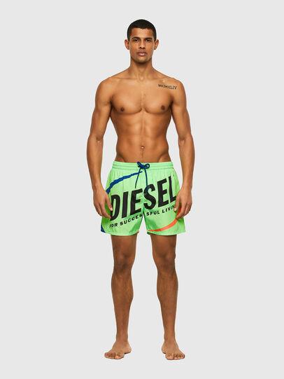 Diesel - BMBX-WAVE 2.017, Verde - Boxer da bagno - Image 1