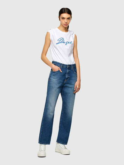 Diesel - T-SILY-K10, Bianco - T-Shirts - Image 4