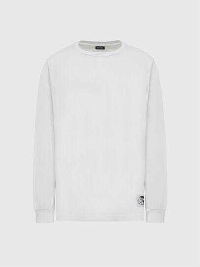 Diesel - T-JUST-LS-MOHI, Bianco - T-Shirts - Image 1