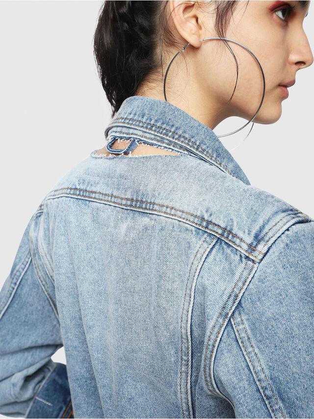 Diesel - DE-NALINI, Blu Jeans - Giacche in denim - Image 4