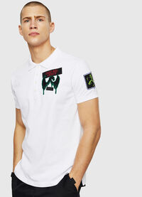 T-POLO-PATCHES, Bianco