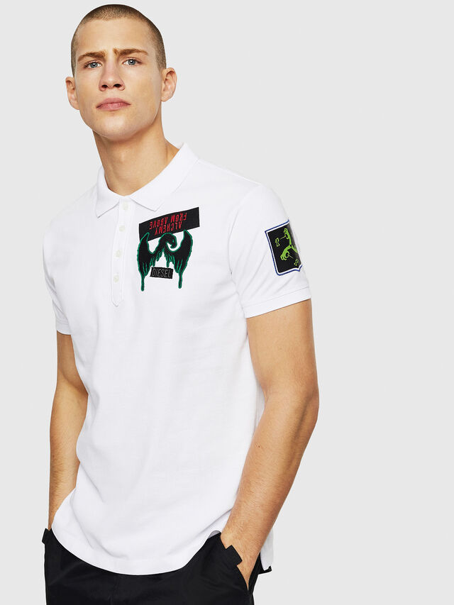 Diesel - T-POLO-PATCHES, Bianco - Polo - Image 1
