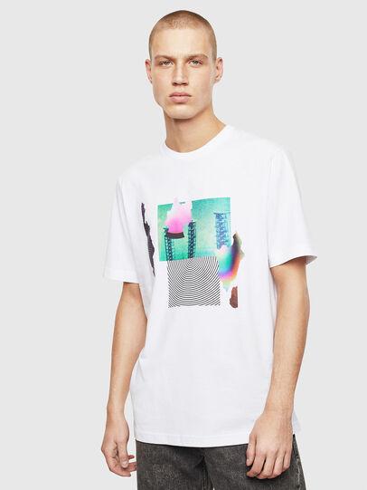 Diesel - T-JUST-T25, Bianco - T-Shirts - Image 1