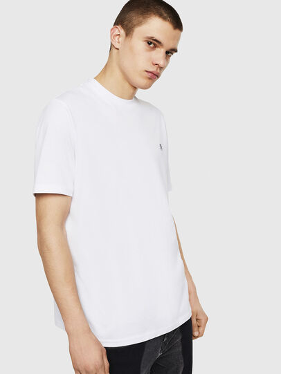 Diesel - T-JUSTY, Bianco - T-Shirts - Image 1