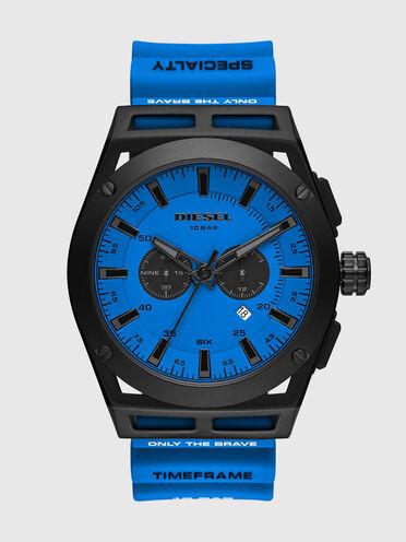Cronografo Timeframe con cinturino in silicone blu