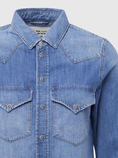 Diesel - DE-RINGY, Blu Chiaro - Camicie in Denim - Image 3