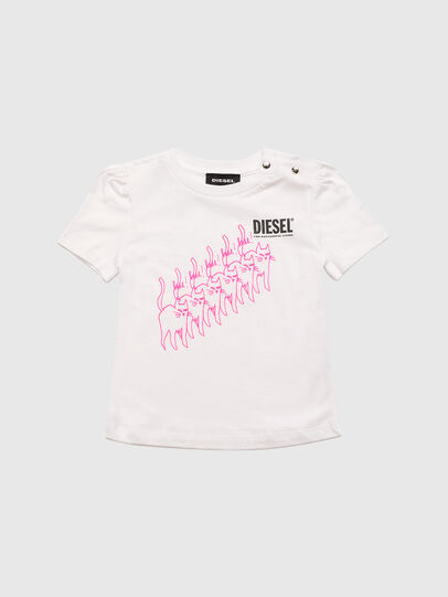 Diesel - TLOPPIB, Bianco - T-shirts e Tops - Image 1