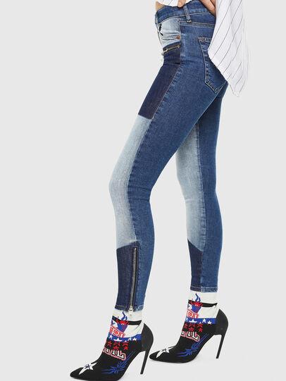 Diesel - Slandy Zip 0890L, Blu medio - Jeans - Image 6
