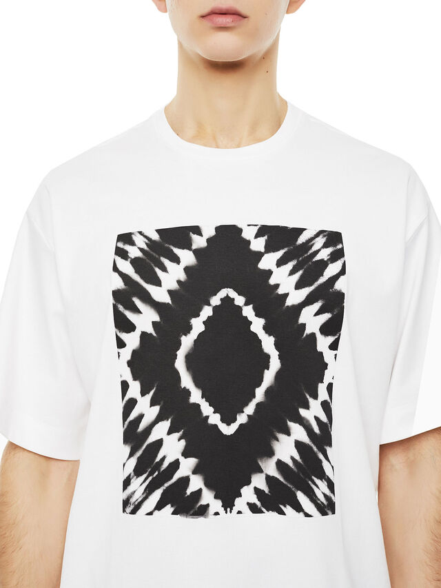 Diesel - TEORIA-TIEDYESQUARE, Bianco - T-Shirts - Image 3