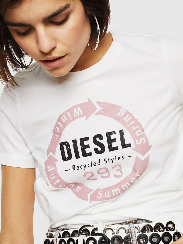 Diesel - T-SILY-C1, Bianco - T-Shirts - Image 3