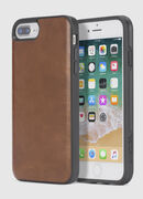 BROWN LEATHER IPHONE X CASE, Marrone - Cover