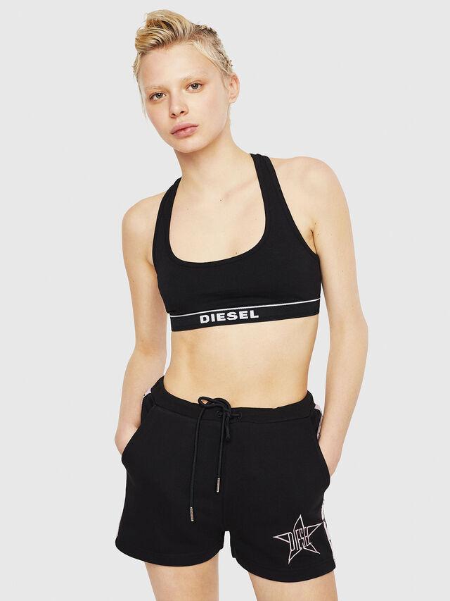 Diesel - UFLB-MARIN-SH, Nero/Rosa - Pantaloni - Image 4