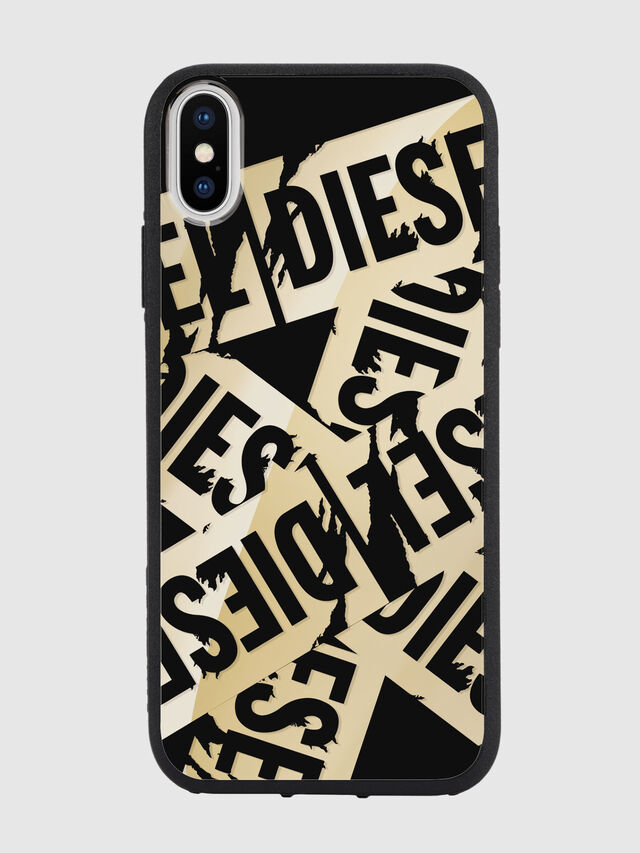 Diesel - MULTI TAPE GOLD/BLACK IPHONE X CASE, Oro - Cover - Image 2