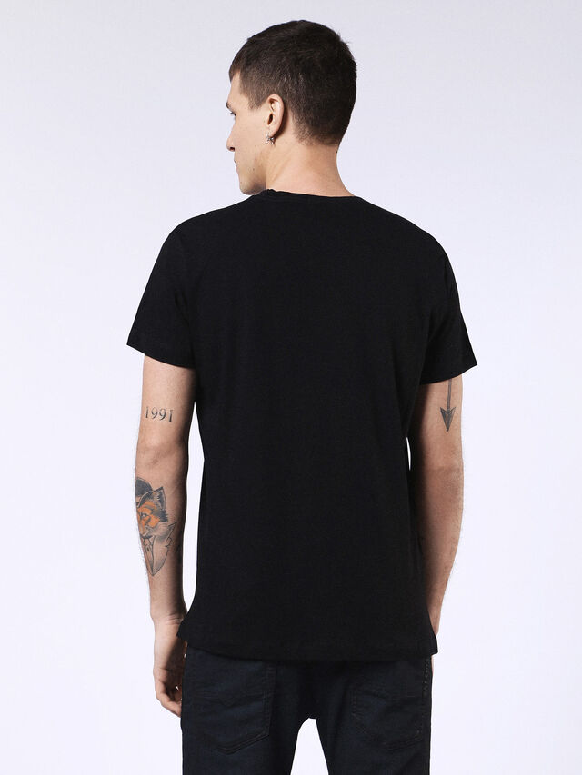 DVL-T-SHIRT-ML-RE, Nero