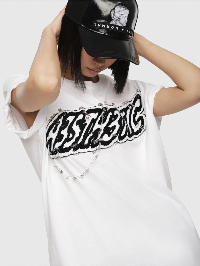 Diesel - T-DARIA-G, Bianco - T-Shirts - Image 3