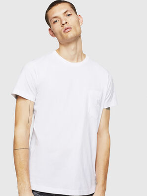 T-DIEGO-POCKET-B1, Bianco - T-Shirts