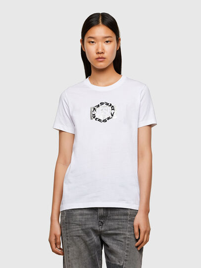 Diesel - T-SILY-R5, Bianco - T-Shirts - Image 1