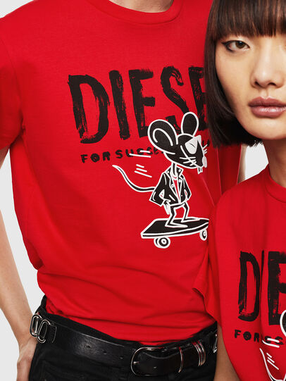 Diesel - CL-T-DIEGO-1, Rosso - T-Shirts - Image 4