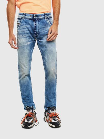 Diesel - Krooley JoggJeans 0099Q, Blu medio - Jeans - Image 1
