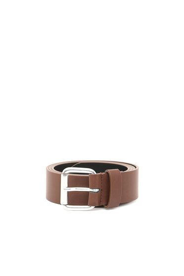 Cintura in ecopelle con logo stampato a impressione