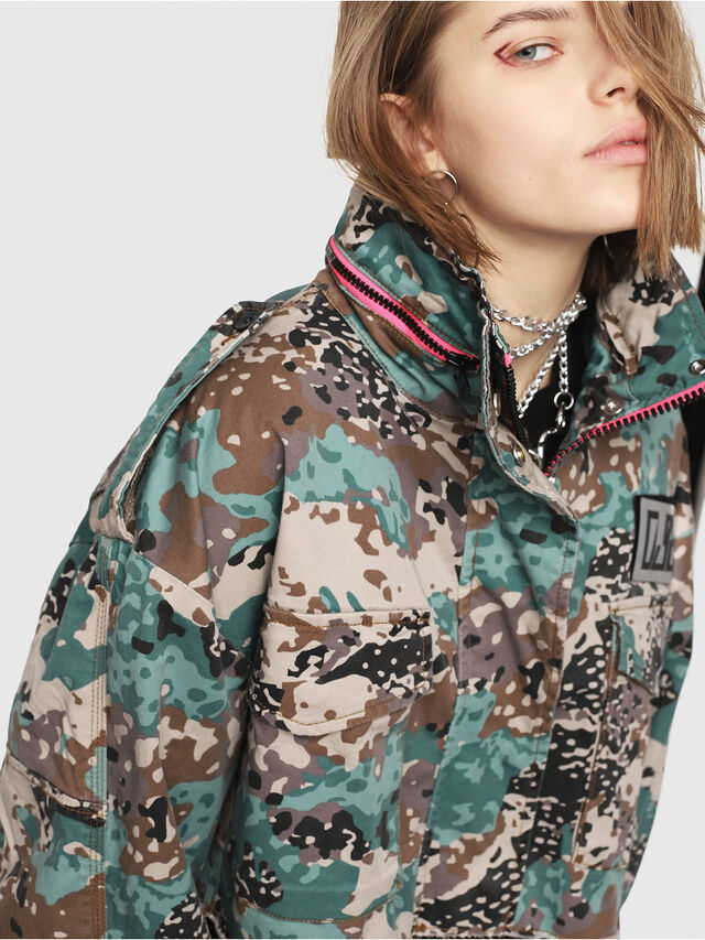 Diesel - G-SHILOH-A, Verde Camo - Giacche - Image 3