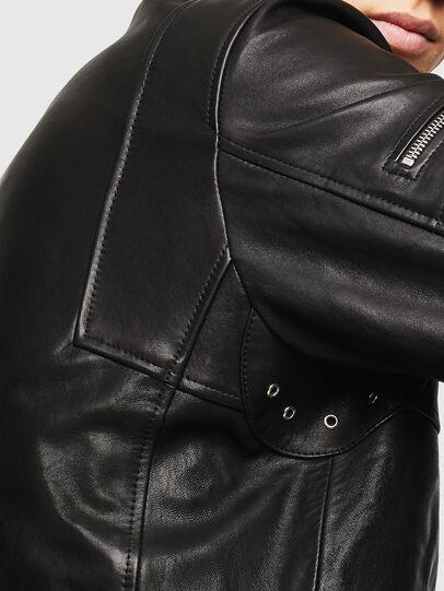 Diesel - L-TOVMAS, Nero - Giacche di pelle - Image 5