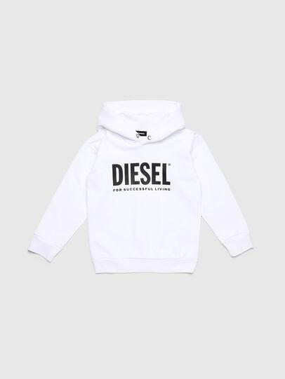 Diesel - SDIVISION-LOGO OVER, Bianco - Felpe - Image 1