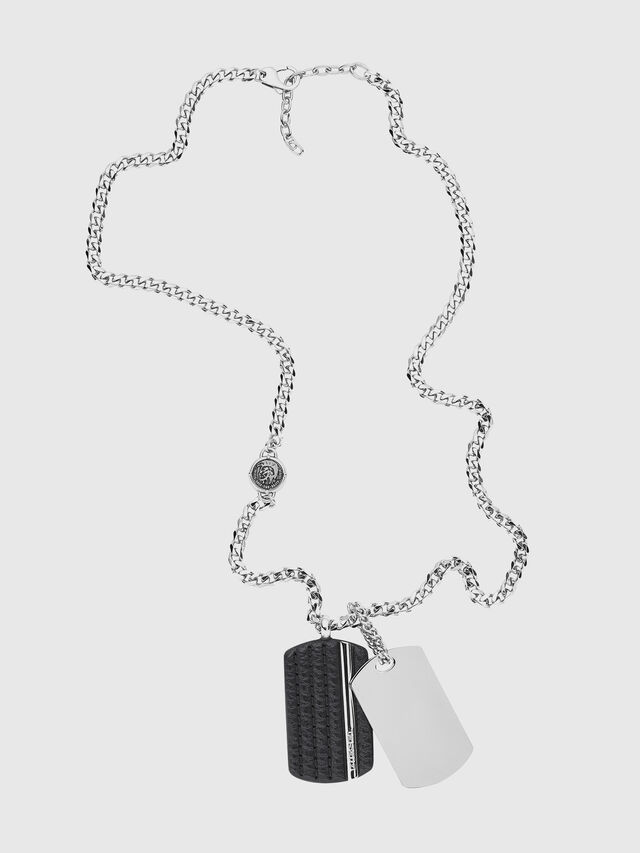 Diesel - NECKLACE DX1040, Argento - Collane - Image 1