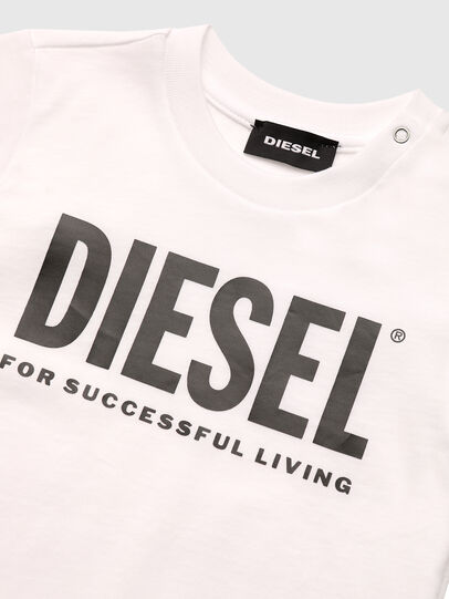 Diesel - TJUSTLOGOB, Bianco - T-shirts e Tops - Image 3