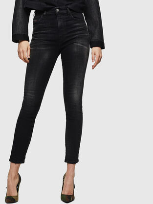 Babhila High 0092B, Nero/Grigio scuro - Jeans