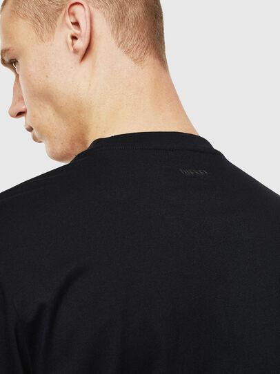 Diesel - T-JUST-LS-J2, Nero/Bianco - T-Shirts - Image 4