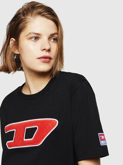 Diesel - T-JUST-DIVISION-D-FL, Nero - T-Shirts - Image 3