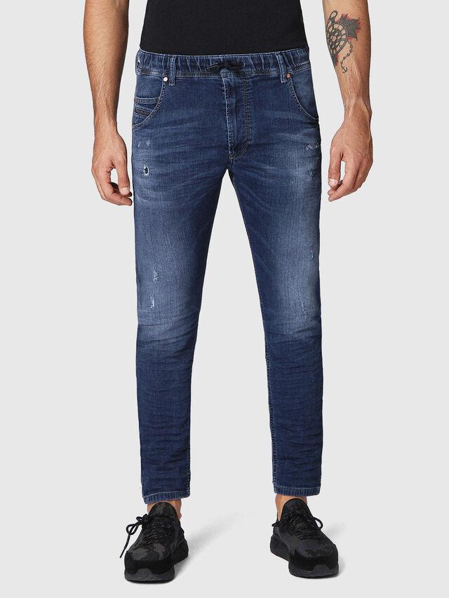 Diesel Krooley JoggJeans 0686W, Blu Scuro - Jeans - Image 1