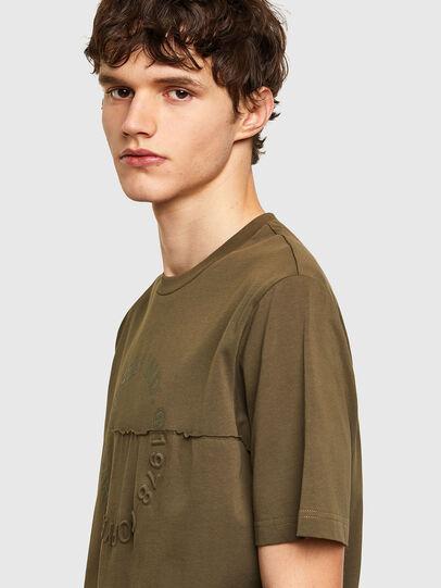 Diesel - T-JUSTEMB, Verde Militare - T-Shirts - Image 3