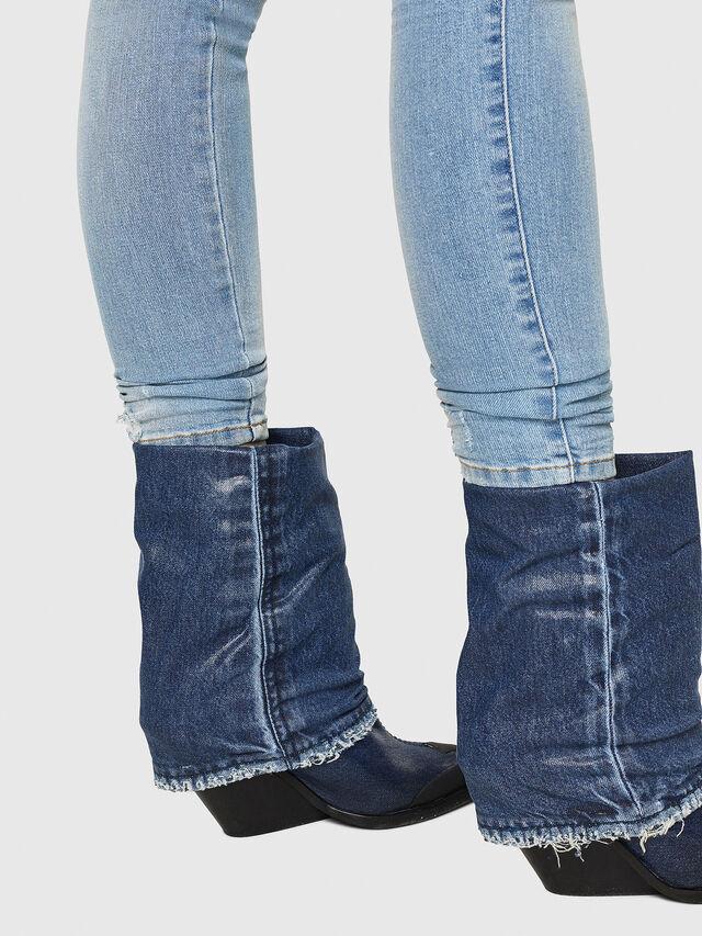 Diesel - Slandy Low 086AA, Blu Chiaro - Jeans - Image 5