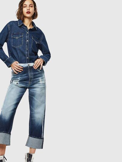 Diesel - D-Reggy 0096S, Blu medio - Jeans - Image 6