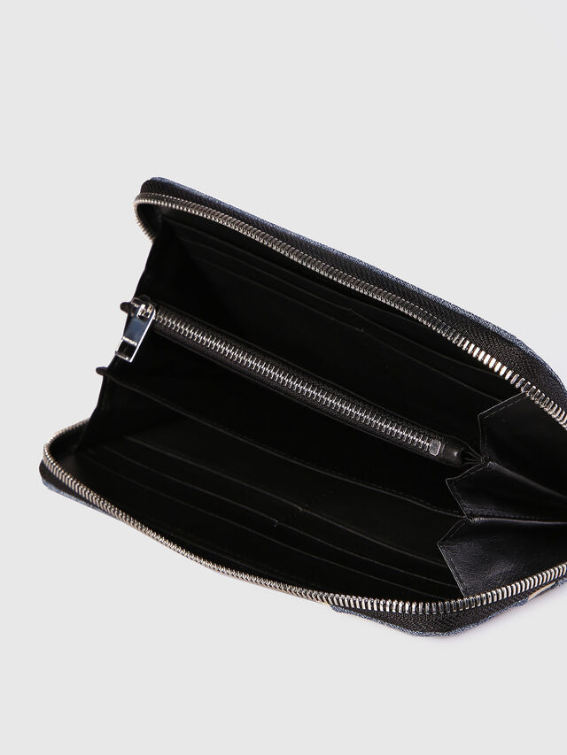 Diesel - 24 ZIP, Blu Jeans - Portafogli Con Zip - Image 4